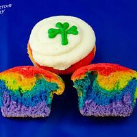 St Patrick's Day Rainbow Cupcakes
