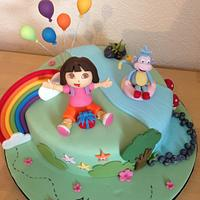 Dora the explorer cake by Cakes by Kirsty
