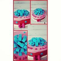 Birhtday cake bow