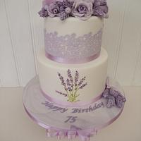 Vintage Hatbox Cake with Lavender