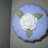 Pleated birthday cake