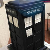Happy Birthday Doctor Who! 4 ft Tall Tardis Cake
