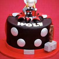 Thor Cake and Cookies by Lesley Wright