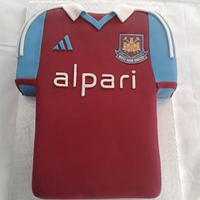 West Ham Shirt football cake