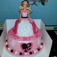 barbie 30th birthday cake