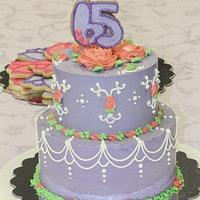 65th Birthday Cake