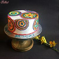 Hand woven cake