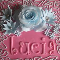 Lucia's birthday cake