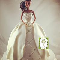 Bride doll cake