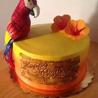 Parrot cake by Jennie