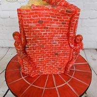 Life is an Open Book - Cutie Street Art Cake Collaboration