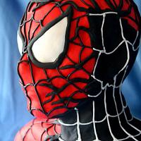 Spider-man life sized by Lesley Southam