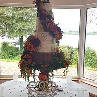 Autumn floral cascade