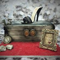 Vintage Shoe box cake