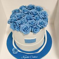 Box roses cake