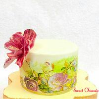 First Handpainted Cake