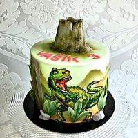 Hand painted T-Rex for boy