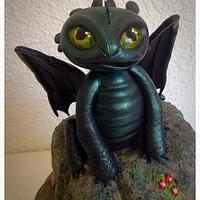 """How to train your dragon"" birthday cake - Toothless"