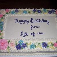 Birthday Cake with Flower Border
