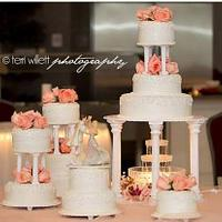 11 Tiered Traditional Wedding Cake by Christie's Custom Creations(CCC)