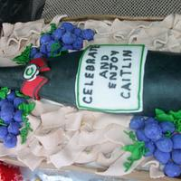Wine Bottle cake by Enchanted Cakes on FB