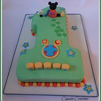 Mickey Mouse Clubhouse Number 1 cake by Cupcakecreations