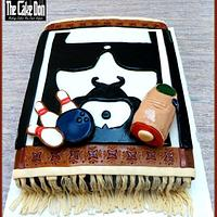 "THE"" BIG LEBOWSKI"" grooms cake"