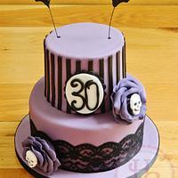 Gothic 30th birthday cake