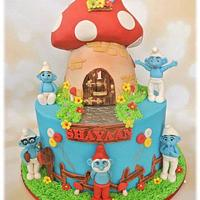 1st Birthday with The Smurfs