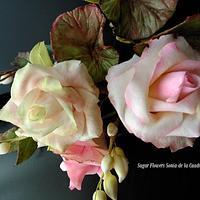 Gumpaste roses for wedding cakes