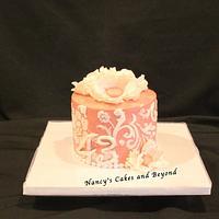Stenciled Anniversary Cake