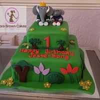 Barbar and badou birthday cake