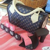Louis Vuition Bag Cake