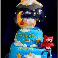 Twinkle Twinkle little star cake for my son