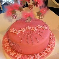 21st Birthday fireworks cake