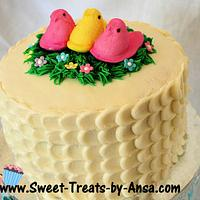 Easter Peep Celebration Cake