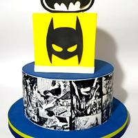 Batman comic cake