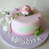 Baby Owl Cake for Afrodite