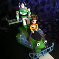 Buzz and Woody with Remote controlled car