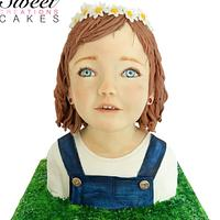 Little girl bust cake