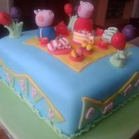 Peppa and George at a Tea Party :)