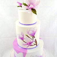 Wedding cake - Magnolii