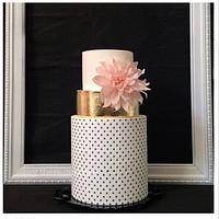 Wafer paper Dahlia & polka dots