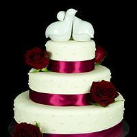 Love Bird Wedding Cake by Jenn