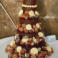 5 tier chocolate fudge cake. Yum!