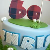 60th birthday golf cake by Isabelle Bambridge