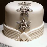 Art Deco Inspired Christmas Cake