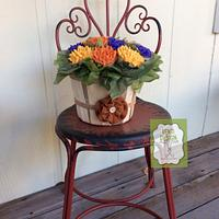 Fall cupcake bouquet