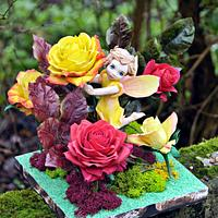 Rose fairy. Away with the Fairies for the Irish Sugarcraft Show 2016