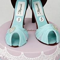 Blue cinderella shoes